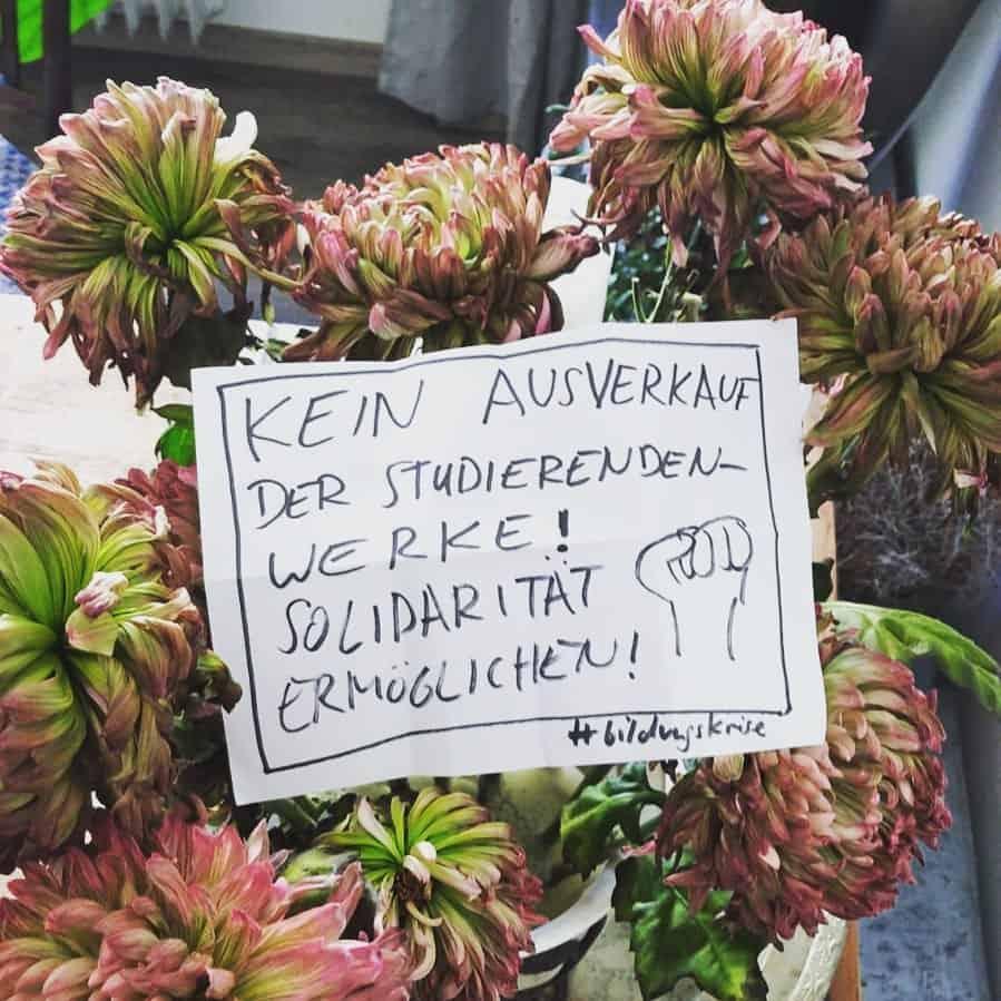 """""""Kein Ausverkauf der Studierendenwerke! Solidarität ermöglichen!"""""""